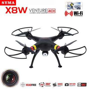 Syma X8W Explorers 2.4G 4CH 6-Axis 2MP Wide Angle Camera RTF WiFi FPV RC Drone Quadcopter Helicopter