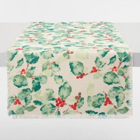 Holly Berry Jute Anastasia Table Runner