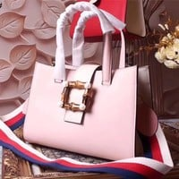GUCCI WOMEN'S NEW STYLE LEATHER HANDBAG INCLINED SHOULDER BAG