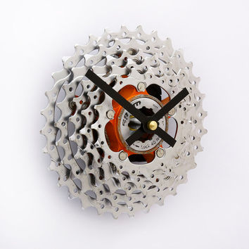 Bike Clock, Bicycle Gear Clock, Bicycle Wall Clock, Gear Clock, Upcycled Bike Parts, SRAM, Gift for Cyclist, Cycling Clock, Steampunk Clock