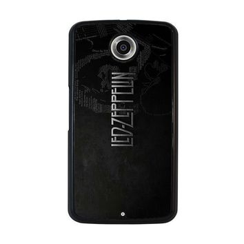 led zeppelin lyric nexus 6 case cover  number 1