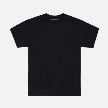 Heavy Cropped Tee / Black