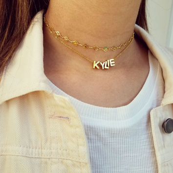 Layered Capital Letter Necklace