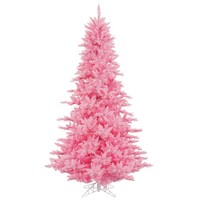 Vickerman 3' Pink Fir Artificial Christmas Tree with 100 Pink Lights