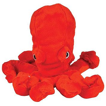 8 Inch Red Octopus Stuffed Animal Plush Zoo Animal Friend Collection