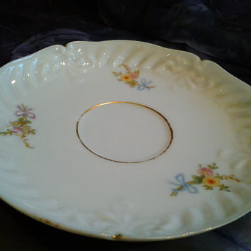 Antique Shabby Chic Limoges Saucer 1896-1900 SM Elite Limoges France French Vintage China Vintage Porcelain Antique China Cottage Style