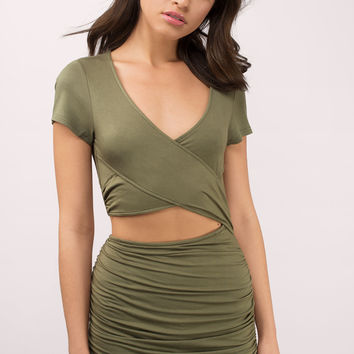 Come My Way Wrap Bodycon Dress