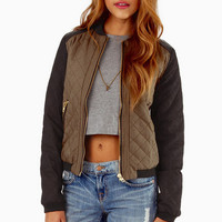 Cotton Candy Eclipse Quilted Bomber Jacket $74