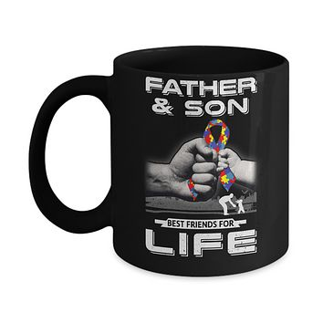 Autism Awareness Father And Son Best Friends For Life Mug