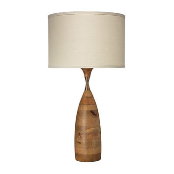 Vintage Rustic Narrow Hourglass Table Lamp