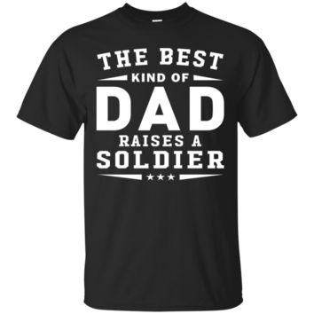 The Best Kind Of Dad Raises A Soldier - Men's V-Neck T-Shirt by Canvas