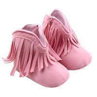 Newborn Baby Girl Shoes Winter Warm Tassel Snow Boots Infant Toddler Soft Sole Amazing Aug 6