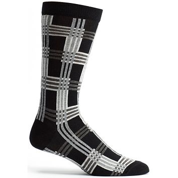 Cascading Plaid Sock