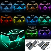Luminescence Glasses El Wire Neon LED Light Up for Christmas Rave Costume Party Festival Clubs Haloween Cold Light Wire Glasses