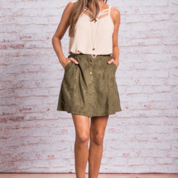 Back To You Skirt, Olive