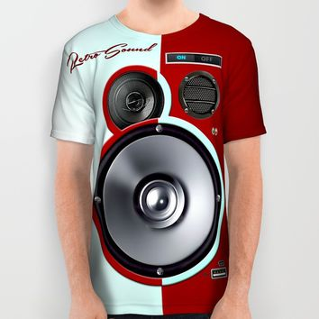 The Retro Sound All Over Print Shirt by RooDesign
