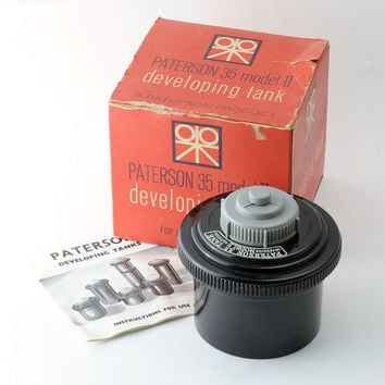 Vintage Paterson 35 Model II 35mm Film Developing Tank Boxed with Instructions