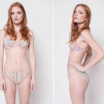 70s Psychedelic Floral Bikini by rumors on Etsy