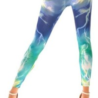 Ninimour- Celeb Inspired Digital Print Leggings Pants Tights O/ S (One Regular Size, B)