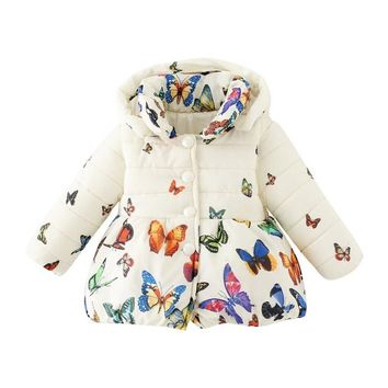 Toddler Butterfly Winter Coat
