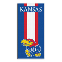 Kansas Jayhawks NCAA Zone Read Cotton Beach Towel (30in x 60in)