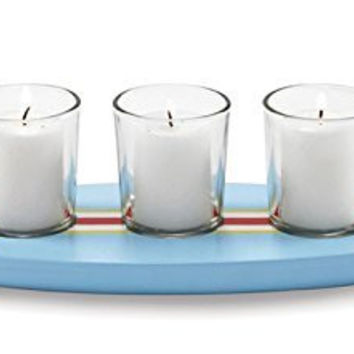 Tropical Surfs Up Surfboard Triple Votive Candle Holder