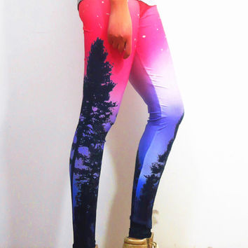 Yoga Leggings, pattern leggings, colorful leggings, cute leggings, aztec leggings,  floral leggings, print leggings