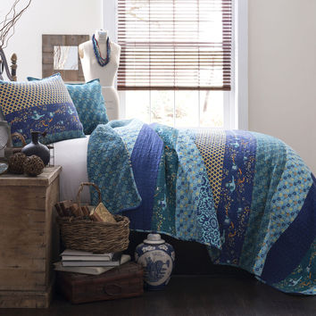 Royal Empire 3-pc Peacock Quilt Set King