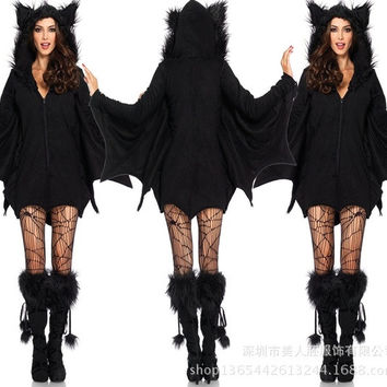 Female Sexy Halloween Batman Cosplay Costumes = 1927925316