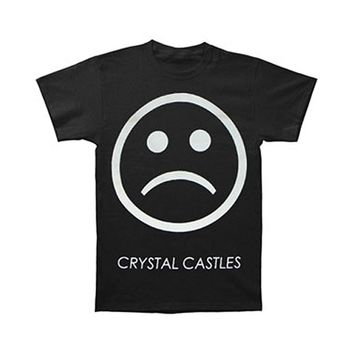 Crystal Castles Men's  Sad Face Slim Fit T-shirt Black