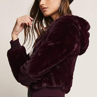 Faux Fur Zip-Front Jacket
