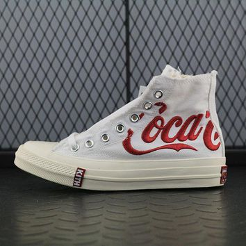 Converse Kith x Coca-Cola x Converse Chuck Taylor All Star 1970s Fashion Canvas Flats Sneakers Sport Shoes White