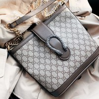 GUCCI New fashion more letter leather chain shoulder bag crossbody bag