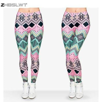 ONETOW ZHBSLWT   Hot Sale New Arrival 3D Printed Fashion Women Leggings Space Galaxy Leggins
