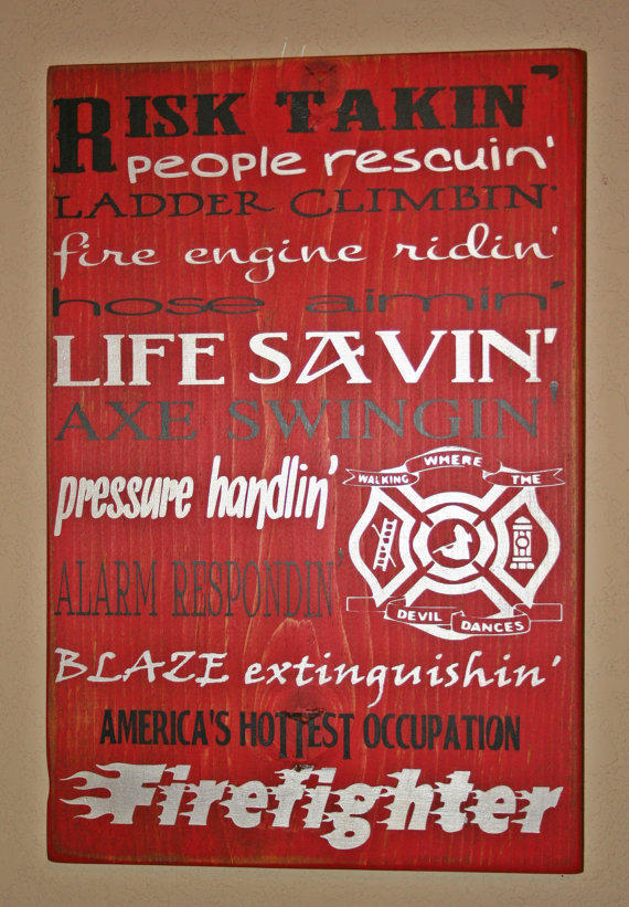 Https Wanelo Com P 6311714 Firefighter Wall Art Firefighter Decor Distressed Wall Decor Custom Wood Sign Firefighter America S Hottest Occupation