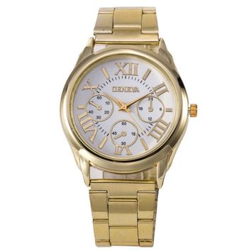 Stylish Awesome Gift Designer's Trendy Good Price Great Deal New Arrival Alloy Diamonds High Quality Stainless Steel Band Watch(With Thanksgiving&Christmas Gift Box) [6542328771]