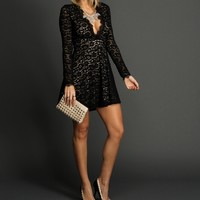 Black A Line Lace Dress