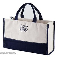 Monogrammed Chevron Tote   Tote Bags   Marley Lilly