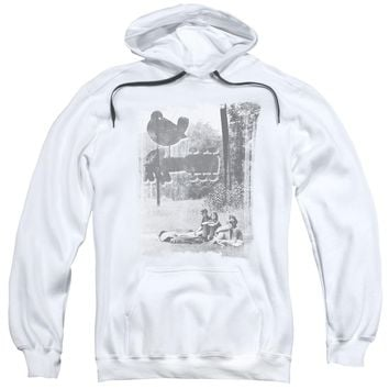 Woodstock - Hippies In A Field Adult Pull Over Hoodie