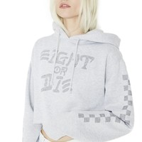 Eight Or Die Cropped Hoodie