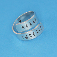 Hello Sweetie Wrap Ring