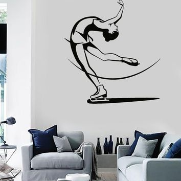 Wall Stickers Vinyl Figure Skating Ski Winter Sport Extreme Sport (z1637)