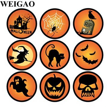 WEIGAO 90 Stickers Halloween Party Pumpkins Temporary Tattoo Sticker Body Gift Box Label Sticker For Halloween Party Decorations