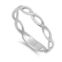 Sterling Silver Handcrafted Braided Band