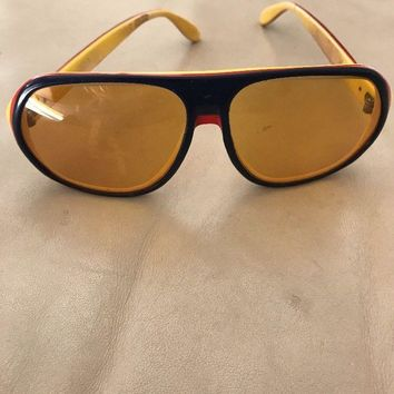 RAY-BAN Sunglasses. Vintage 70s. Multi Coloured Ambermatic Lenses. Blazer Style.
