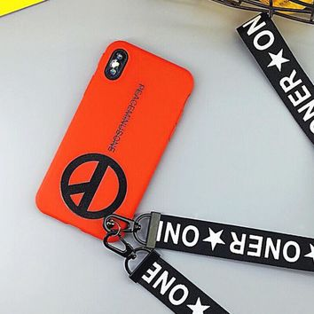 Peace Logo Pattern Case for iPhone X 8 7 6S Plus &Gift Box