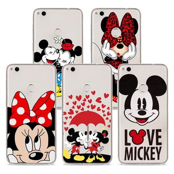 Soft Silicone Phone Case cartoon mickey minnie mouse TPU Silicone Phone Case for Huawei P20 P20Lite P10 P8 P9 Lite 2017 P Smart