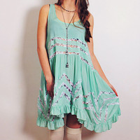 Bohemian Lace Swing Dress - 1 left