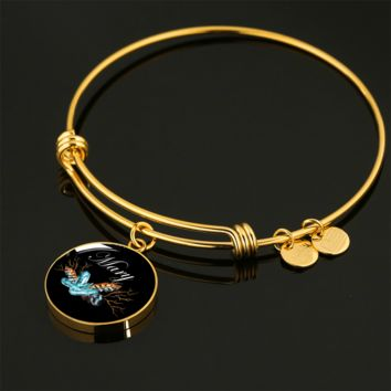 Mary v4b - 18k Gold Finished Bangle Bracelet