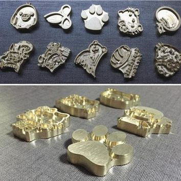 700pc LOGO for Hot Brass Stamp Iron Mold Burning on Cake,Personalized Mold heating on Wood/Leather,league DIY gift,Custom Design